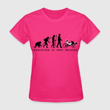 Evolution recumbent bicycle - Women's T-Shirt