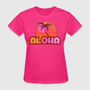 Pink Aloha Palm - Women's T-Shirt
