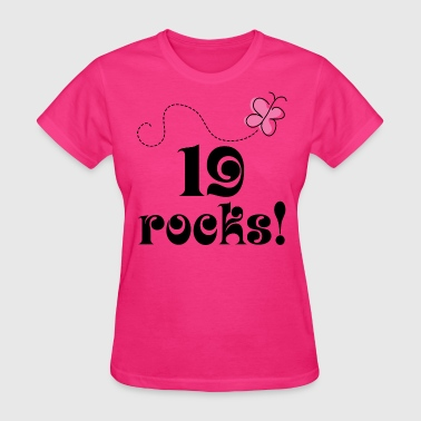 19th Birthday 19 Rocks - Women's T-Shirt