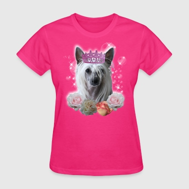 Chinese Crested Dog chinese crested princess - Women's T-Shirt