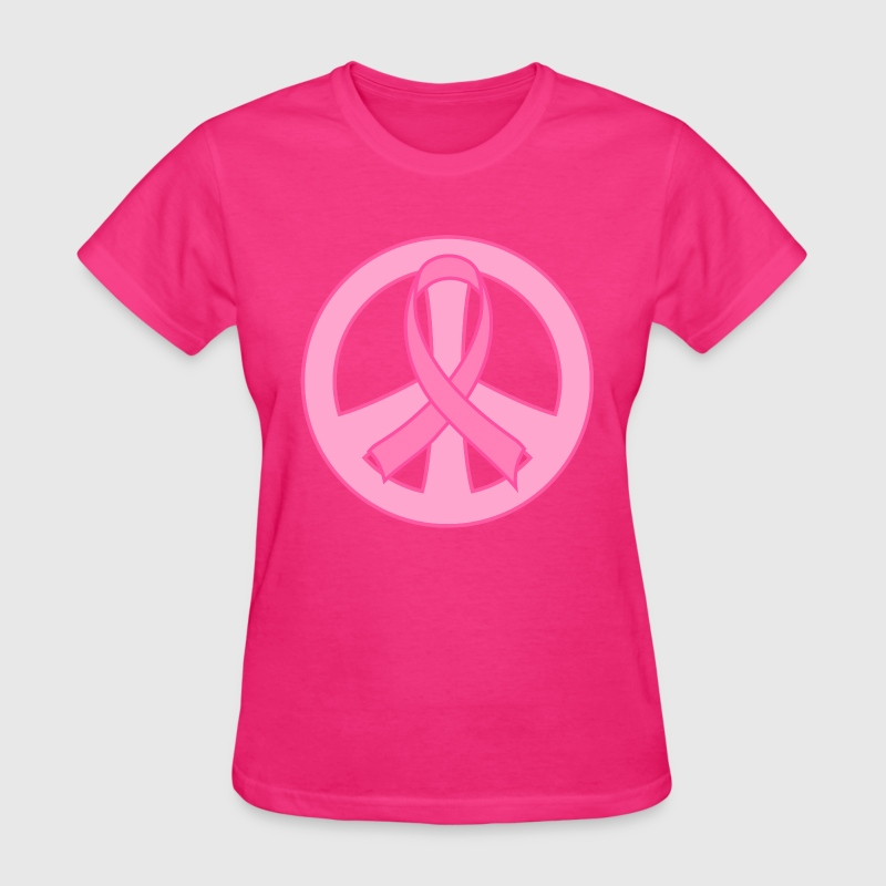 Breast Cancer Ribbon Peace Sign By Homewiseshopper Spreadshirt