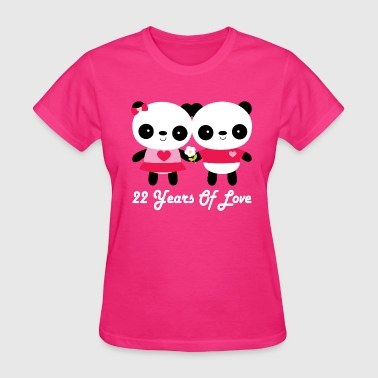 22nd Anniversary Panda Couple - Women's T-Shirt
