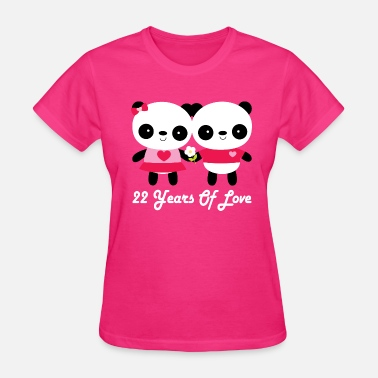 Panda 22nd Anniversary Panda Couple - Women's T-Shirt
