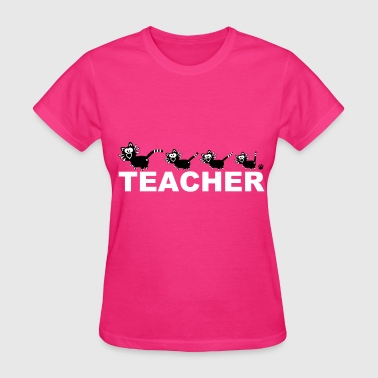 Teacher Catpaw Design Cats Cat School Fun - Women's T-Shirt