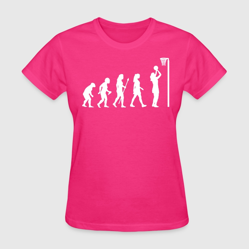 Funny Netball Evolution - Women's T-Shirt