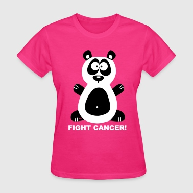 Bear Fuck Fight Fuck Cancer Breast Comic Panda Bear  - Women's T-Shirt