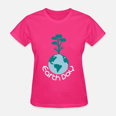 Earth Tree earth day typo with tree - Women's T-Shirt