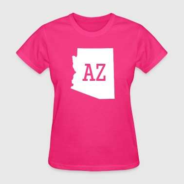 Arizona State Map Arizona State Map AZ - Women's T-Shirt