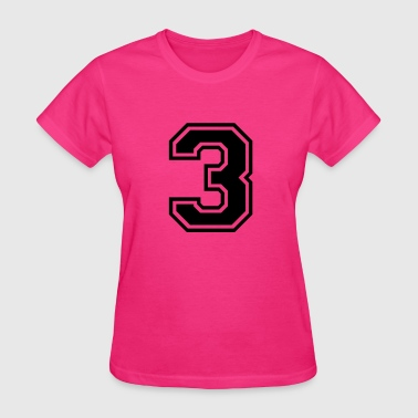 Number 3 Three - Women's T-Shirt