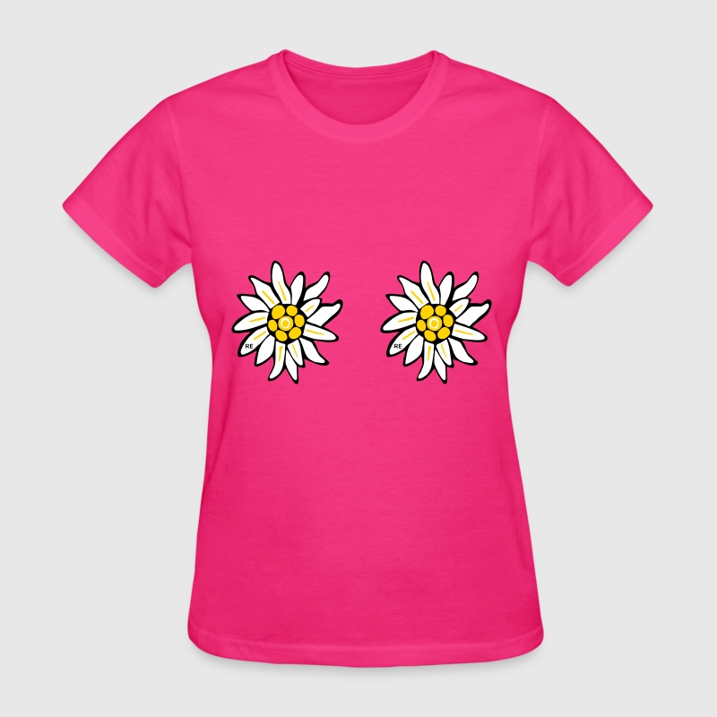 fleurs flowers sexy breast titts boobs Bavaria  - Women's T-Shirt