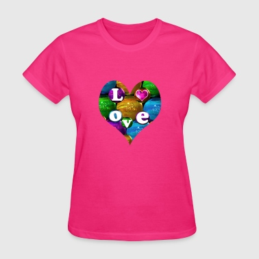 bubbles heart 3 - Women's T-Shirt