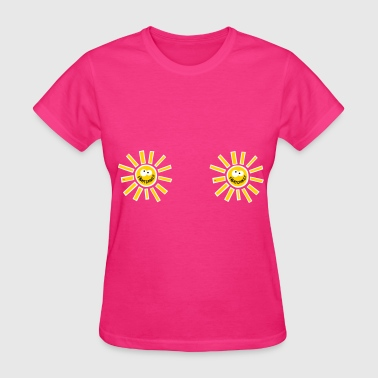 Fight Cancer Statement Breast Sun - Women's T-Shirt