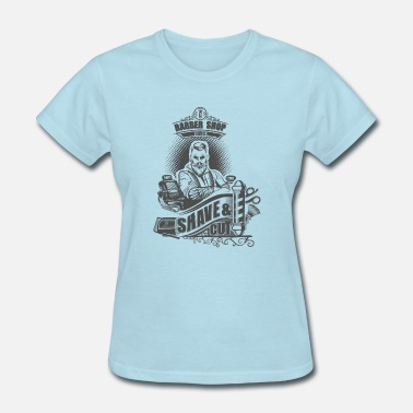 Barber Cut Barber Shop, cut once and shave - Women's T-Shirt