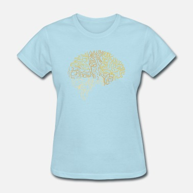 Futuristic Cyber Neuroscience Superhuman Brain Gift - Women's T-Shirt