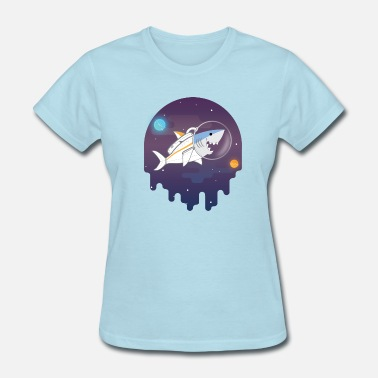 Sharks Shark In Space - Women's T-Shirt