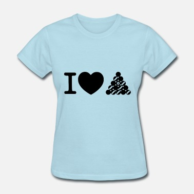 Kö i love billard - Women's T-Shirt