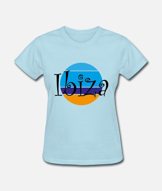 Beach T-Shirts - Ibiza - Women's T-Shirt powder blue