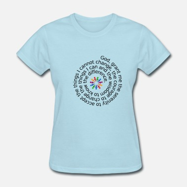 Anonymous AA Serenity Prayer - Women's T-Shirt