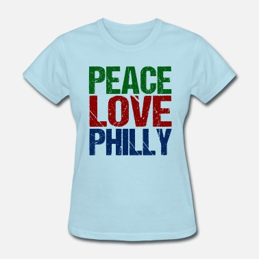 Green Phillies Philadelphia Peace Love Philly - Women's T-Shirt