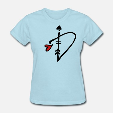 0e581e51a Heart And Arrows Letter D with arrow heart - Women's T-