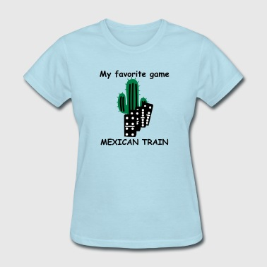 Mexican Train domino tiles - Women's T-Shirt