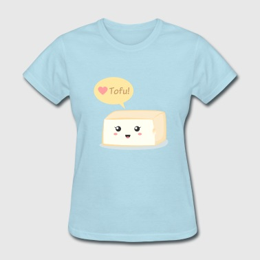 love tofu, cute food doodle - Women's T-Shirt