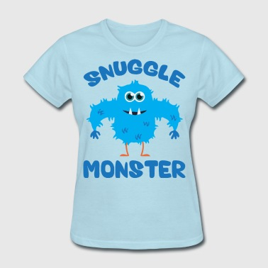 Snuggle Monster (Blue) - Women's T-Shirt
