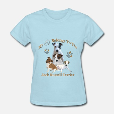 Jack Russel My Hearts Belongs To the Jack Russell Terrier - Women's T-Shirt