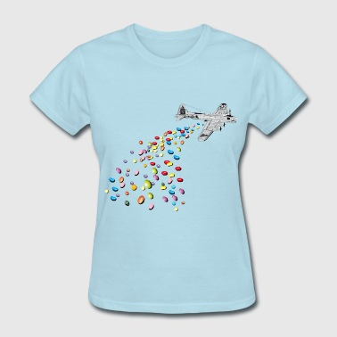 Jelly Beans falling jelly beans girly - Women's T-Shirt