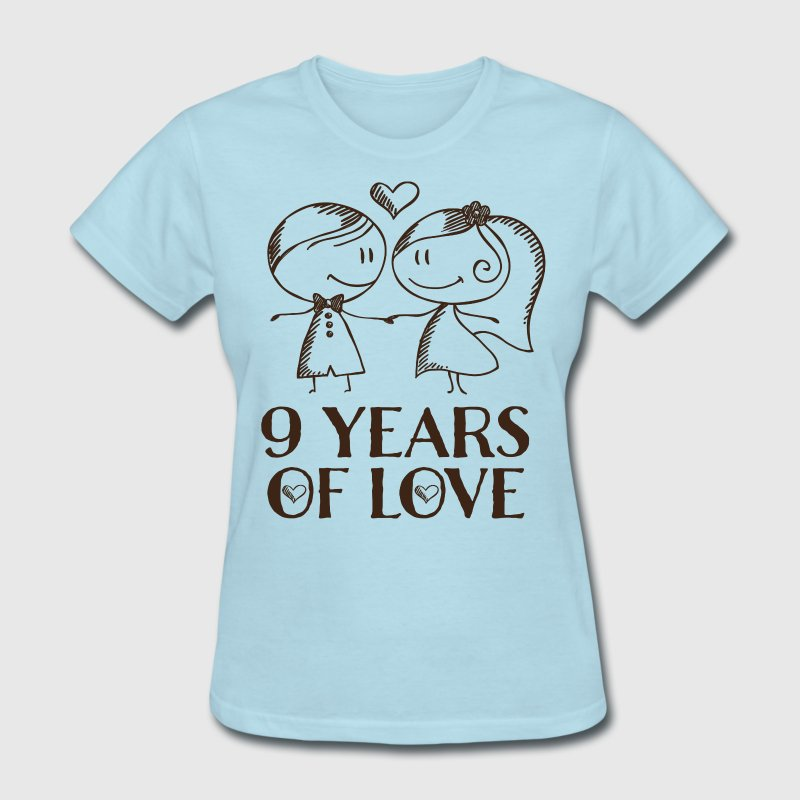 9th anniversary love gift by homewiseshopper spreadshirt 9th anniversary love gift womens t shirt negle Gallery