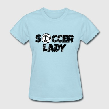 Soccer Lady Women's Soccer Design - Women's T-Shirt