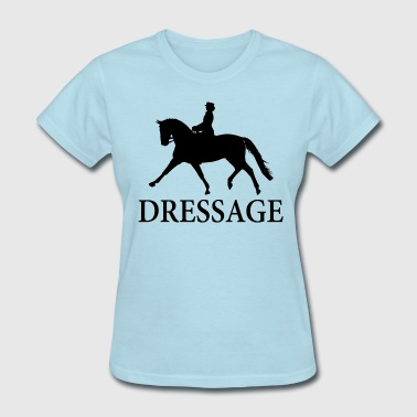 Dressage Horse - Black - Women's T-Shirt