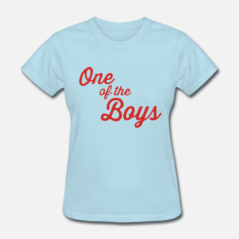 Comedy T-Shirts - One of the Boys - Women's T-Shirt powder blue