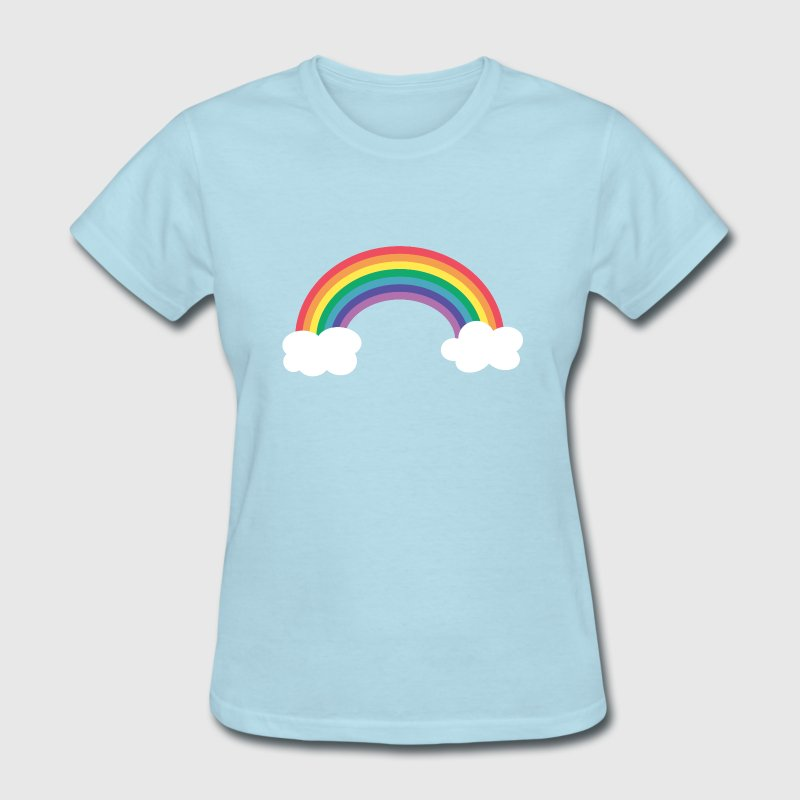 rainbow and clouds - Women's T-Shirt