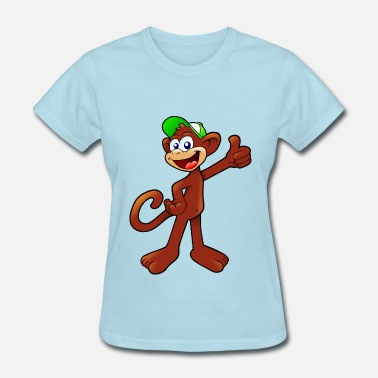 Cartoon Monkey cartoon monkey - Women's T-Shirt
