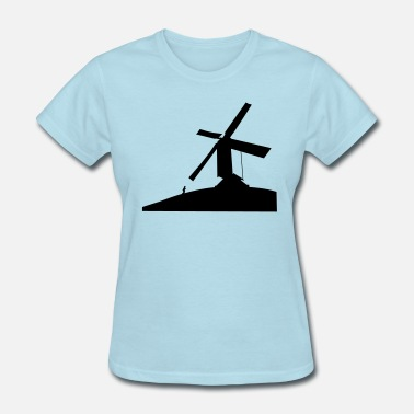Running Hills Women's Windmill on a hill  - Women's T-Shirt