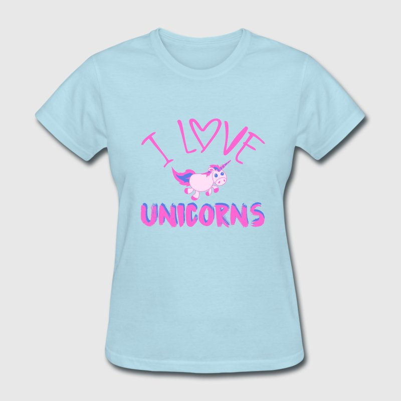 I love unicorns - Women's T-Shirt