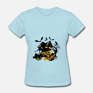 Raven Mother Halloween tree house bat pumpkin sweet sour - Women's T-Shirt