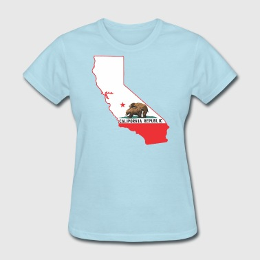 Porn Flags calipornia_state_outline - Women's T-Shirt