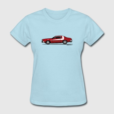 Gran Torino Striped Tomato Red Undercover Cop Car - Women's T-Shirt