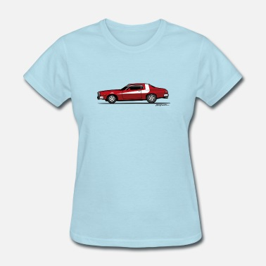 Police Cars Gran Torino Striped Tomato Red Undercover Cop Car - Women's T-Shirt