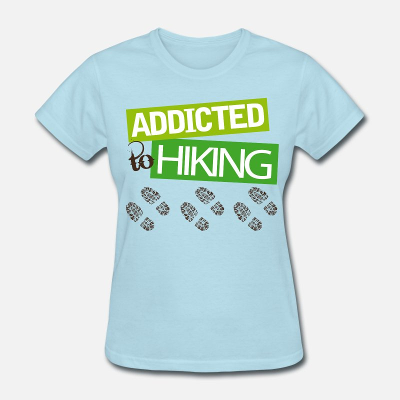 Love T-Shirts - Hiker Gift I Love Hiking - Women's T-Shirt powder blue