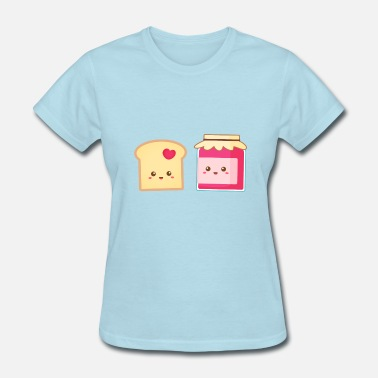 Jam Toast cute strawberry jam and toast, spread the love - Women's T-Shirt