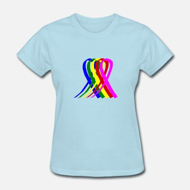 Breasts Rainbow Cancer Rainbow Ribbons - Women's T-Shirt