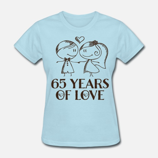ceef4871 65th Wedding Anniversary Gift - Women's T-Shirt. Back. Back. Design. Front.  Front