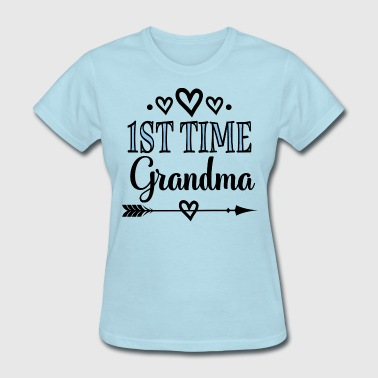 1st Time Grandma Announcement - Women's T-Shirt