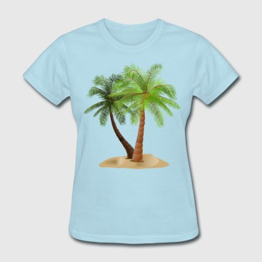 palms in sand - Women's T-Shirt
