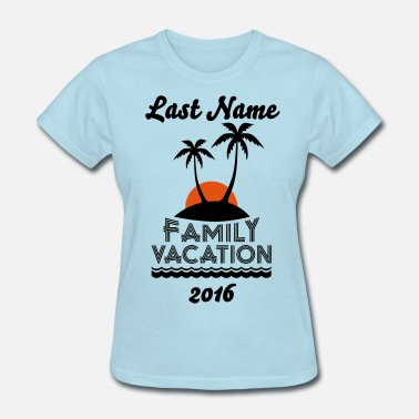Family Family Beach Vacation - Women's T-Shirt