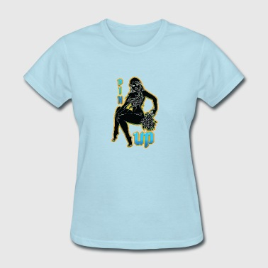 pin_up_sexy_girl_in_sauna_color - Women's T-Shirt