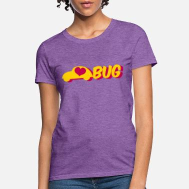 Bug love bug with a herbie car - Women's T-Shirt